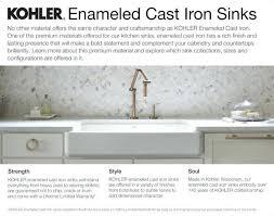 kohler farmhouse sink cleaning enameled cast iron sink vs stainless steel kohler cleaner lowes