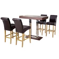 Oak Bar Table Caprice Bar Table Rectangular In Wenge And Stainless Steel