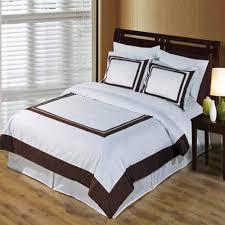 Modern White Bed Frame Hotel Modern White Brown Cotton Framed Duvet Cover Set Luxury