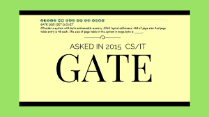 Page Table Entry Gate 2015 Set 1 Cs It Page Table Size Youtube