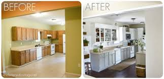 Painted Kitchens Cabinets Wonderful White Painted Kitchen Cabinets Before After Painting Old