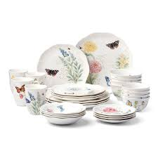 lenox 28 butterfly meadow classic dinnerware set for only