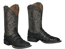 lucchese mens malcolm black giant gator boots m4345 cowboy shop