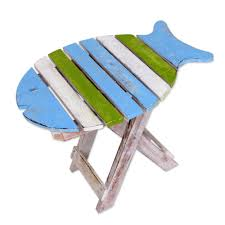 Small Wood Folding Table Hand Made Wood Folding Table Fish Shape From Indonesia Bawal