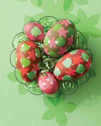 leaf and flower easter eggs martha stewart