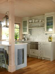 kitchen style minimalist coastal kitchen with a white subway tile