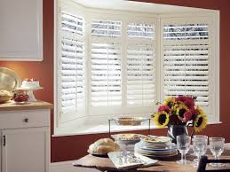 Kitchen Shutter Blinds Blinds U0026 Shades For Bay And Corner Windows The Finishing Touch