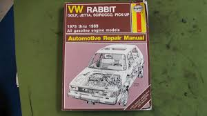 haynes repair manual for vw rabbit golf jetta scirroco and pick up