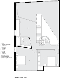How To Draw A Floor Plan Melbourne Apartment With A Sculptural Staircase By Adrian Amore