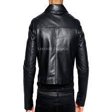 womens leather motorcycle jacket trendy cropped leather men biker jacket