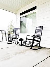 front porch rocking chairs white lane decor