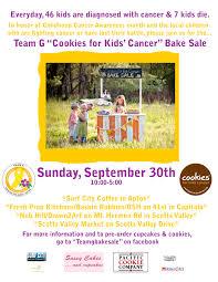 team g bake sale behind the cookie