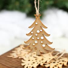 unfinished wood laser cut tree ornaments wood cutouts