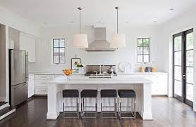 Dining Room Drum Pendant Lighting Contemporary Dining Room With White Walls And Cabinets With Drum
