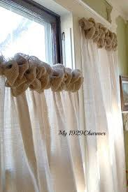 endearing white burlap curtains and best 25 burlap bedroom decor