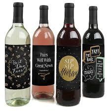 best day congratulations wine bottle labels