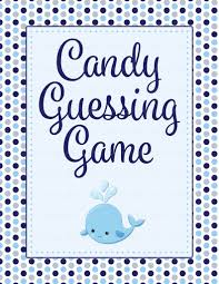 candy guess baby shower game whale baby shower theme for baby