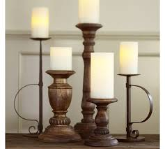Candle Pedestals Oxford Turned Wood Candleholders Pottery Barn