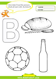 kids under 7 letter b worksheets and coloring pages