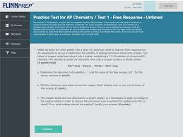 flinnprep free response questions for ap chemistry practice exam