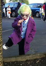 my 2 year old played the joker perfectly on halloween imgur