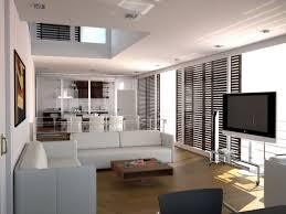 interior design living room apartment comfy beige fabric bed