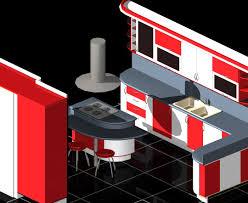 modular kitchen auto cad 3d free model dwg cgtrader com idolza