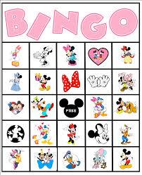 free minnie mouse disney bingo party printable free bingo