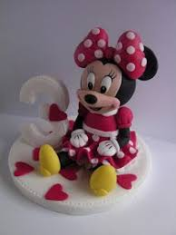 3 Minnie Mouse Tutorial Cake Decoration Figures Pinterest