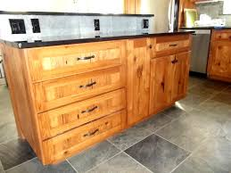 rustic hickory kitchen cabinets wyman woodworks