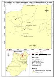 Map Of Tanzania Map Of Manyoni District Singida Tanzania With Sample Figure