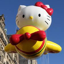 parade time get pumped the balloons are almost get the