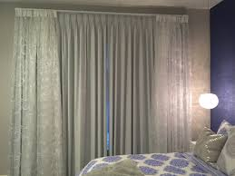 gray pinch pleat curtains with custom fabric sheer overlay looks