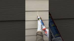how to caulk hardie plank lap siding field joints diy youtube
