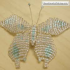 beaded butterfly bracelet images How to make butterfly jewelry tutorials the beading gem 39 s journal gif