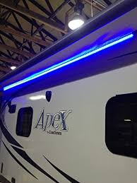 travel trailer led lights recpro rv cer motorhome travel trailer 25 blue led awning party