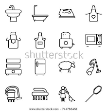 Sheep Toaster Microwave Oven Hair Dryer Blender Icons Stock Vector 361095461