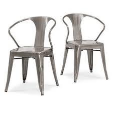 Tabouret Bistro Steel Side Chairs Set Of 2 Vintage Brown