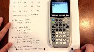 basic calculator functions chp 1 ap statistics youtube