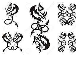 tribal chinese dragon tattoos celtic dragon stock photos u0026 pictures royalty free celtic dragon