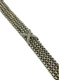box chain bracelet images David yurman sterling silver 4 row box chain pave diamond x JPG