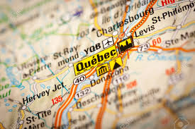 Quebec Map Map Photography Quebec City On A Road Map Stock Photo Picture