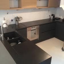cuisine marbre noir plan de travail cuisine noir paillet affordable ides de cuisine