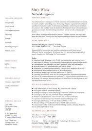 Sample Modern Resume by Network Engineer Cv Sample Cv Examples Technology Job Modern