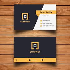 Bisness Card Design Modern Corporate Business Card Design Vector Free Download
