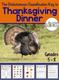 dichotomous classification key to thanksgiving dinner problem