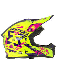 motocross helmets australia freegun neon yellow magenta 2017 xp4 trooper mx helmet freegun