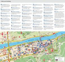map attractions heidelberg tourist attractions map