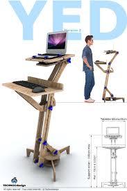 ergonomie bureau ordinateur steunk le sur socle en bois witg verre 04 bureau
