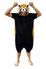 amazon com red panda kigurumi all ages costume clothing